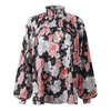 Womens Turtleneck Shirt Floral Long Sleeve Blouses Blouses & Shirts Daisy Dress For Less