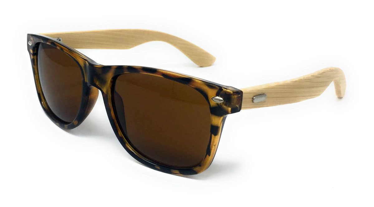 f43f47153a4 Tortoise Sunglasses Bamboo Arms Wooden Mens Ladies Womens Retro ...