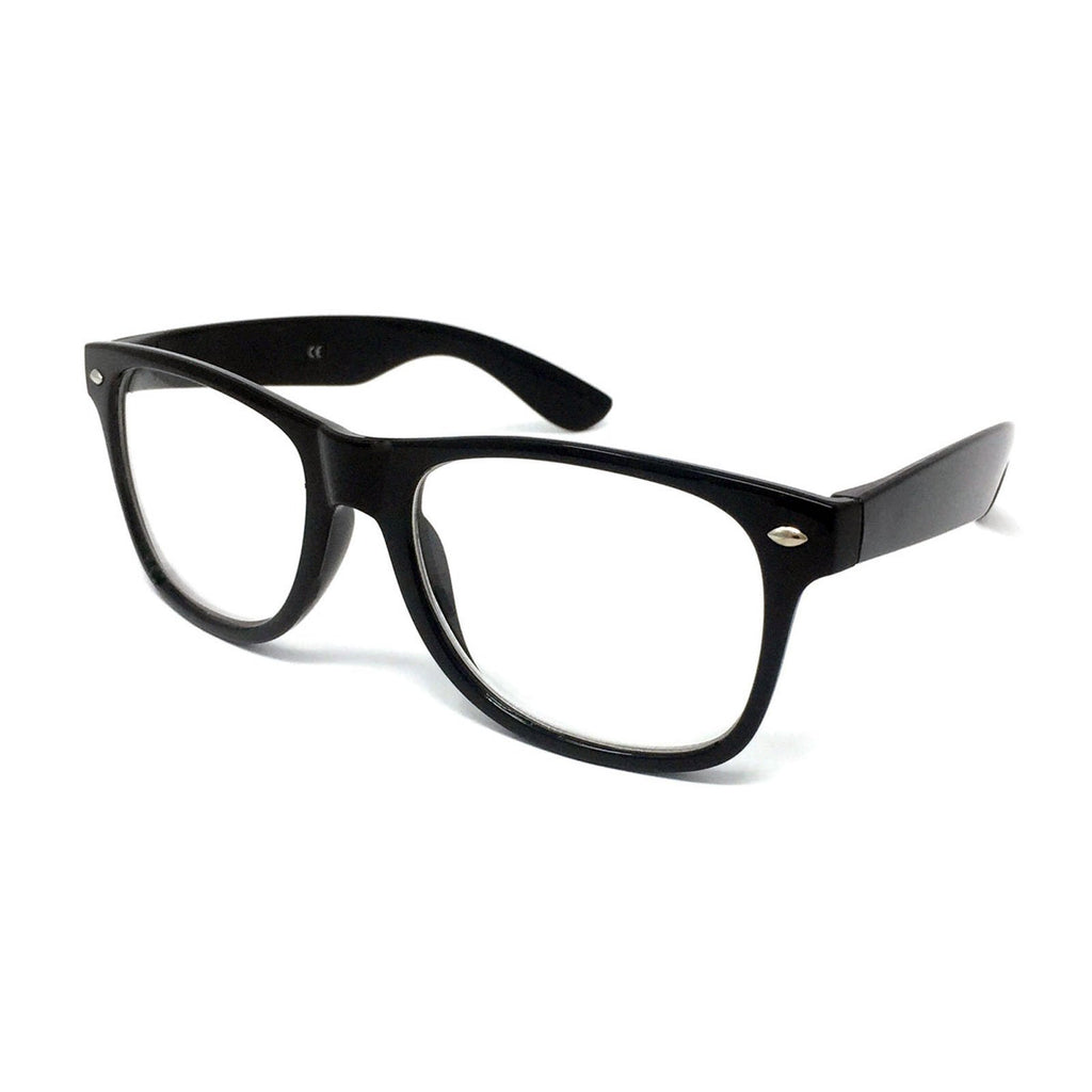 Wholesale Kids Classic Clear Lens Glasses - Black Frame