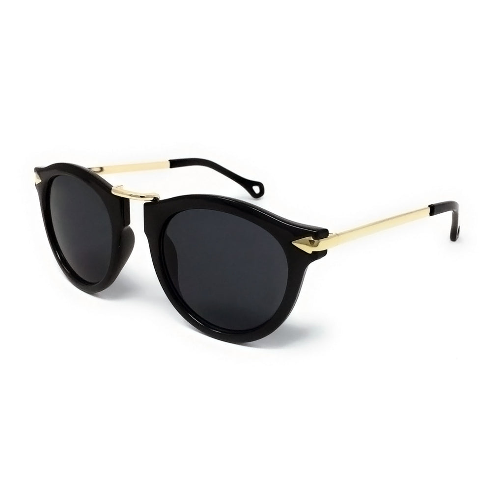 Black Frame, Rose Gold Cateye Sunglasses