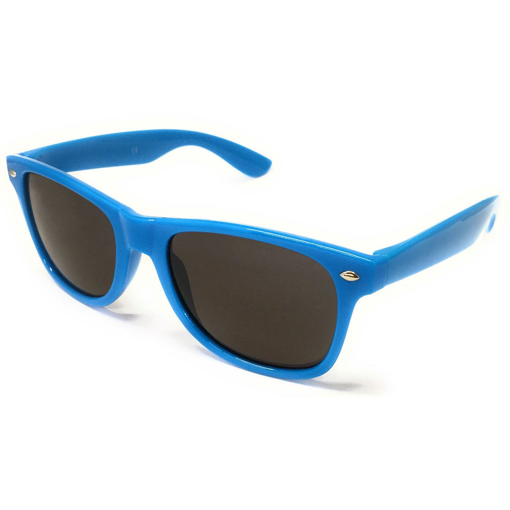 Wholesale Kids Classic Sunglasses - Blue Frame, Black Lens