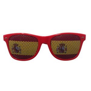 Novelty Sunglasses - Spain Flag Lens Print