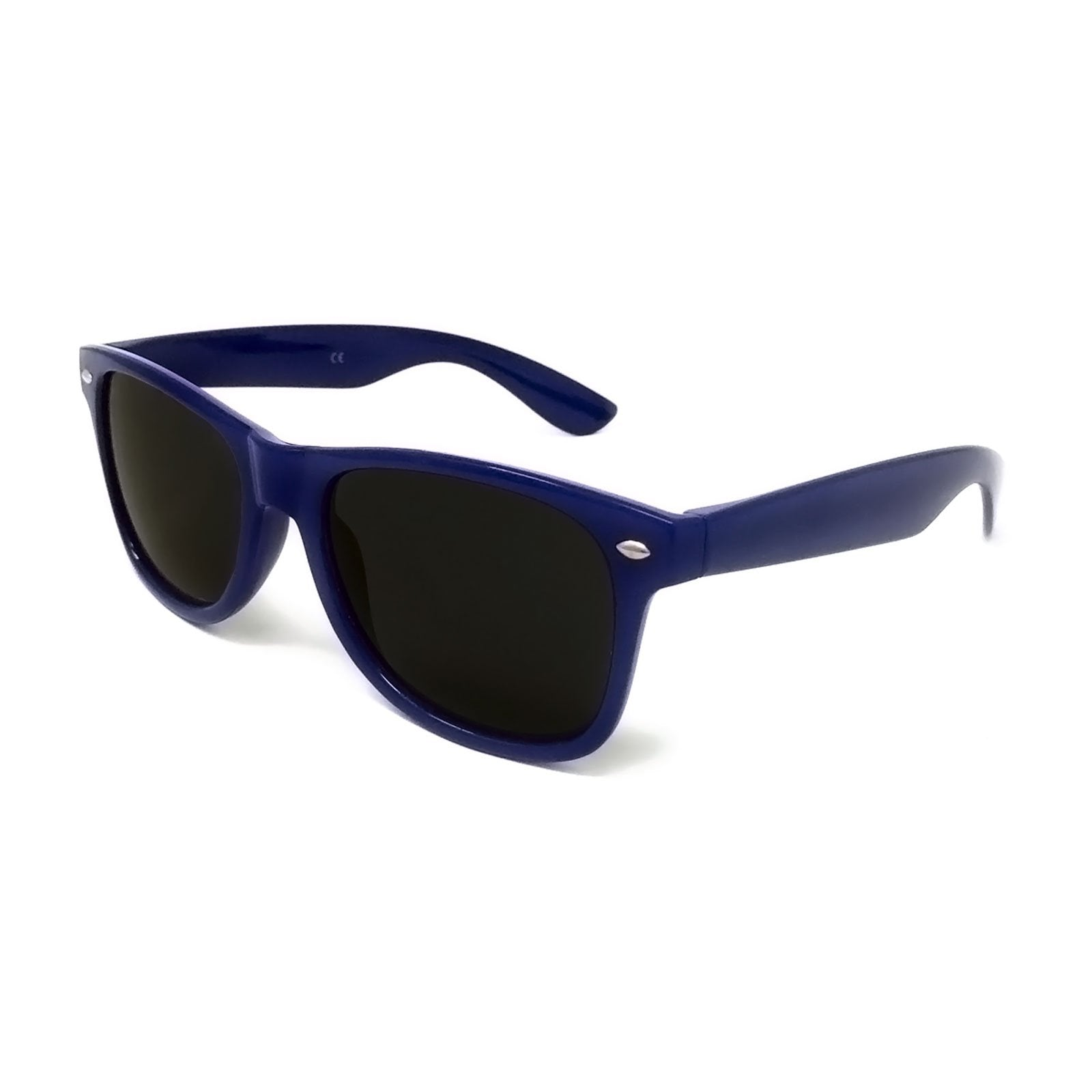 Wholesale Classic Sunglasses - Dark Blue Frame, Black Lens