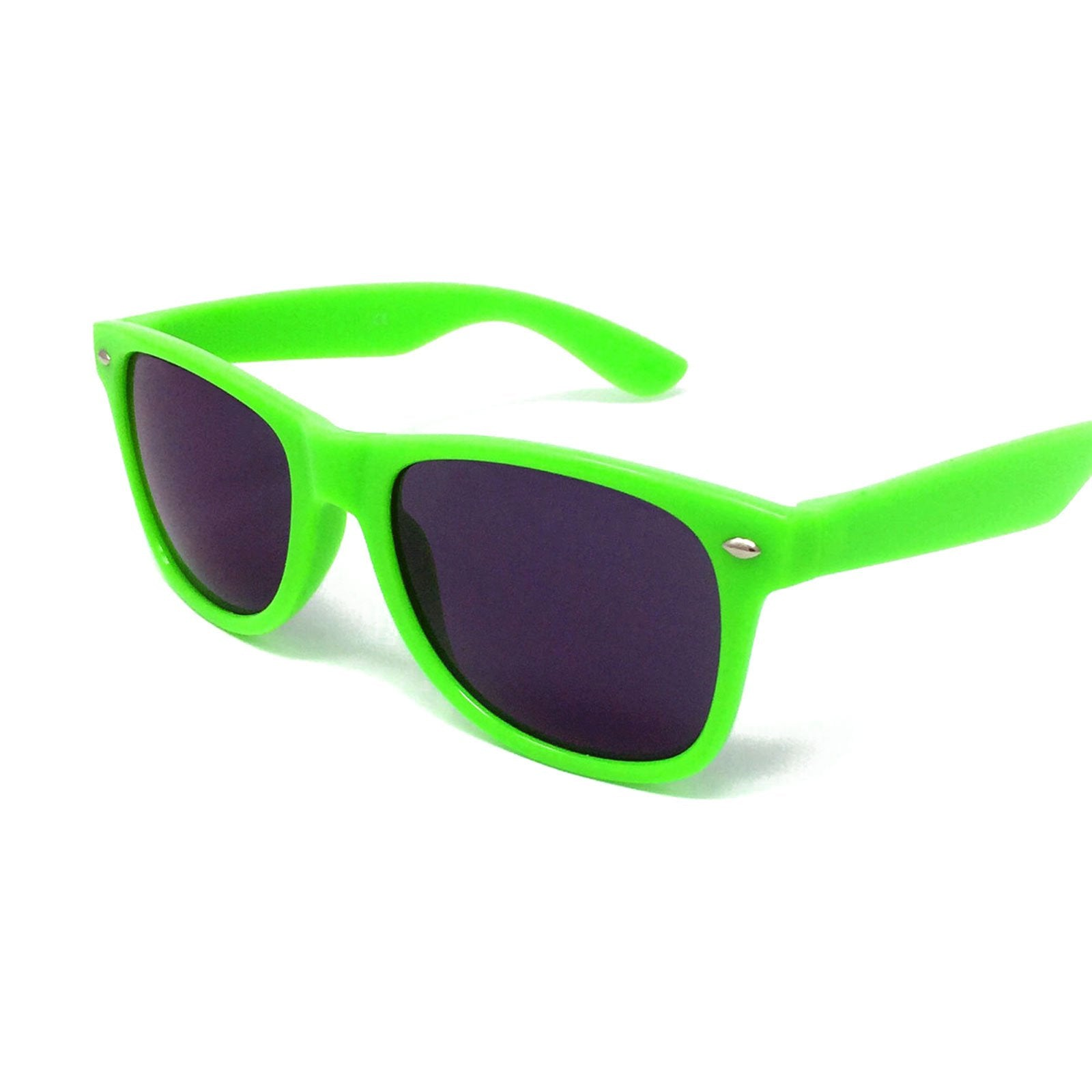 Wholesale Kids Classic Sunglasses - Green Frame, Black Lens