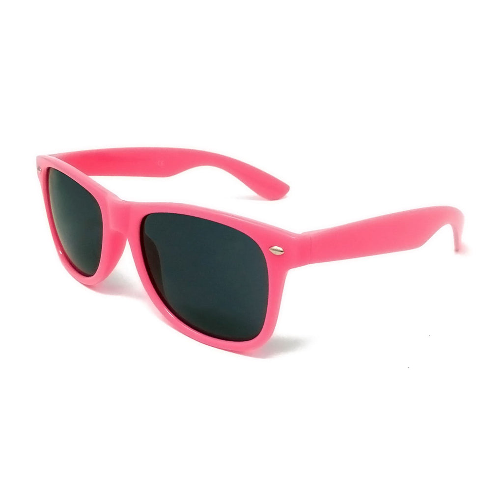 Wholesale Kids Classic Sunglasses - Hot Pink Frame, Black Lens