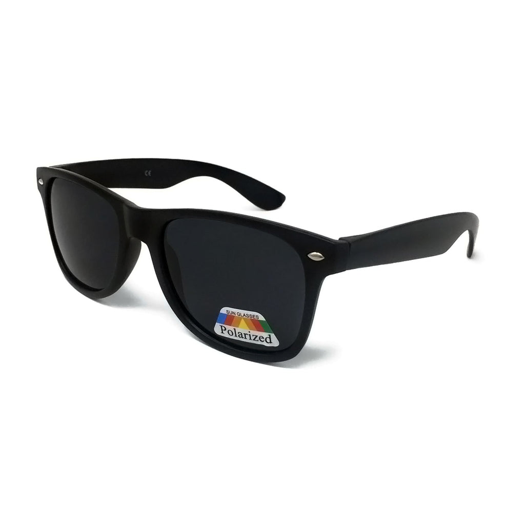Kids Polarised Classic Sunglasses - Matte Black