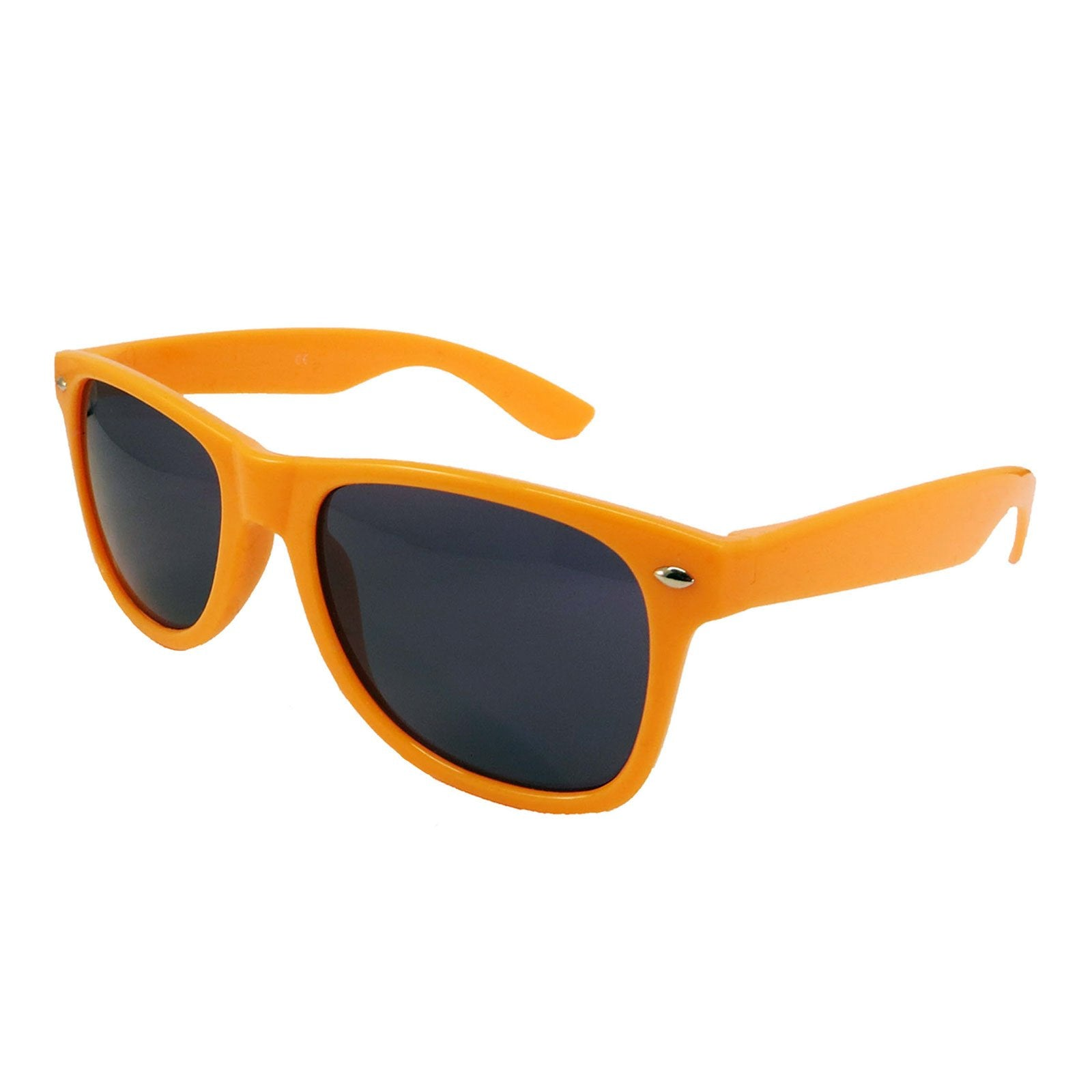 Wholesale Kids Classic Sunglasses - Light Orange Frame, Black Lens