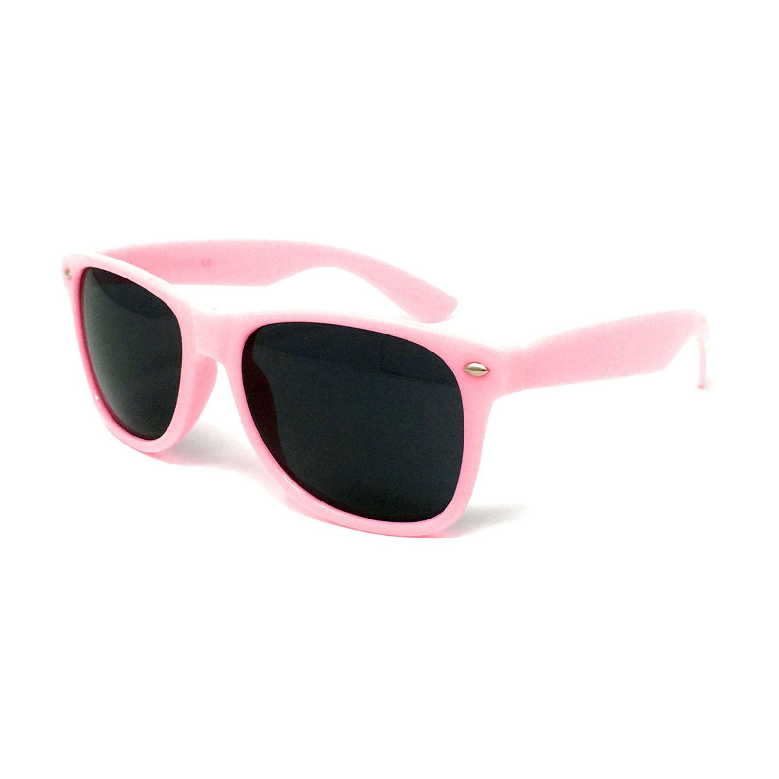 Wholesale Classic Sunglasses - Light Pink Frame, Black Lens