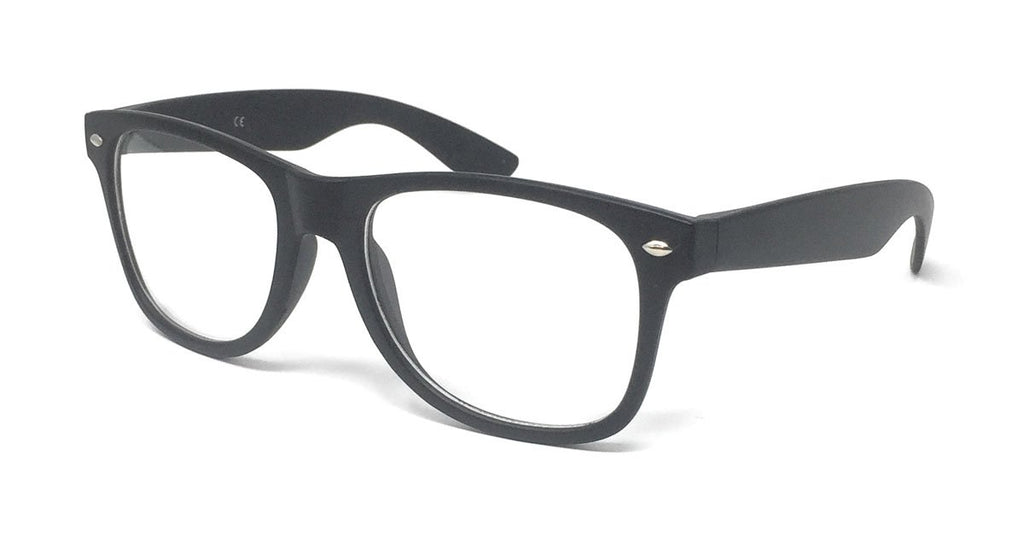 Wholesale Classic Clear Lens Glasses - Matte Black Frame