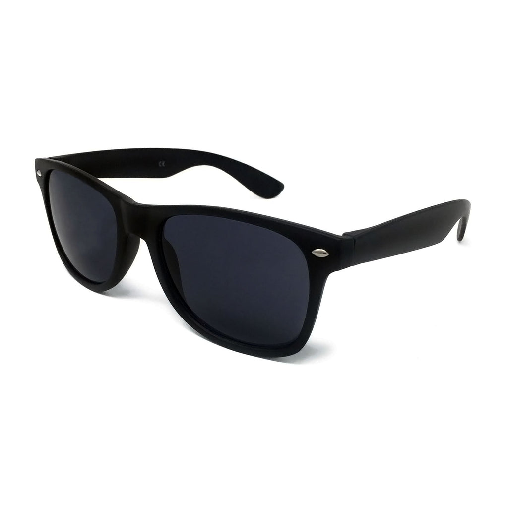 Wholesale Kids Classic Sunglasses - Matte Black Frame, Black Lens