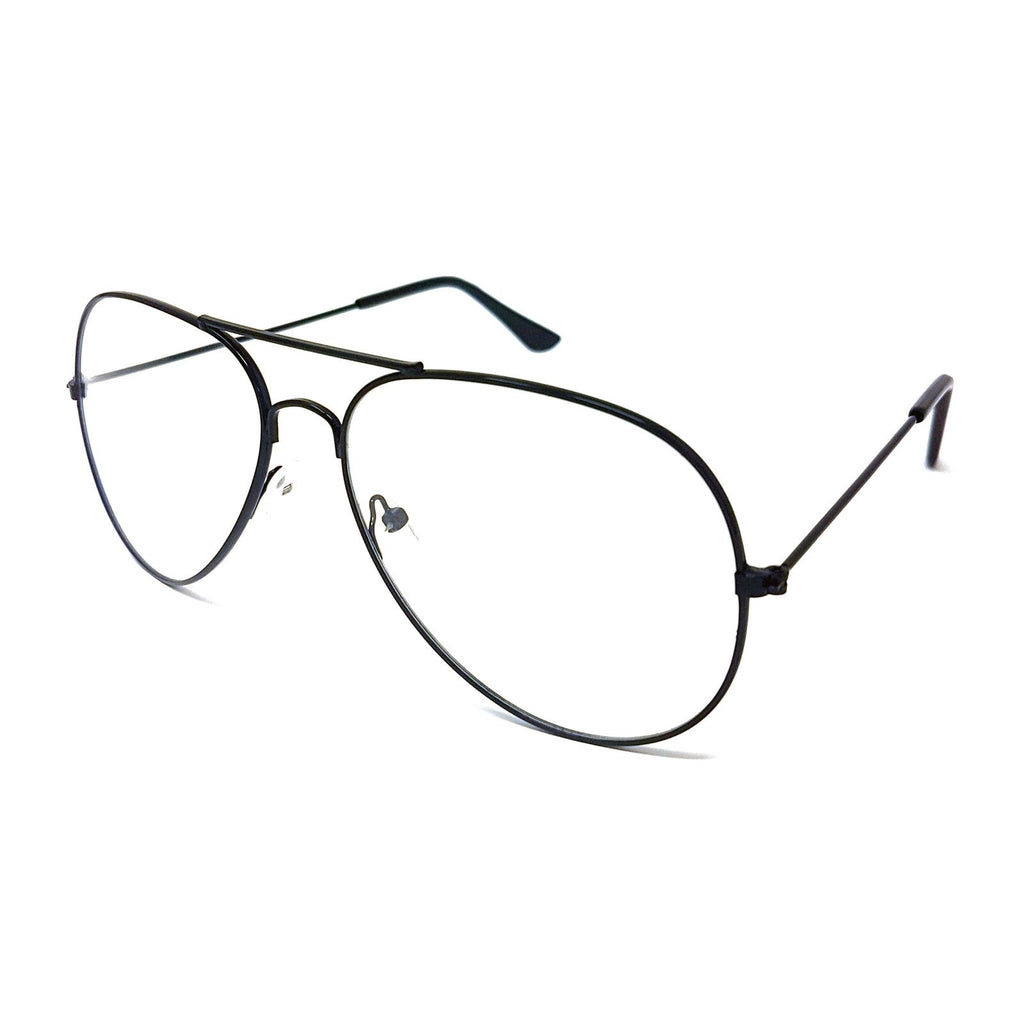 Wholesale Metal Frame Classic Clear Lens Glasses - Black Frame