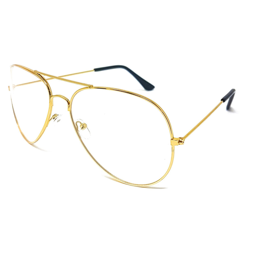 Wholesale Metal Frame Classic Clear Lens Glasses - Gold Frame