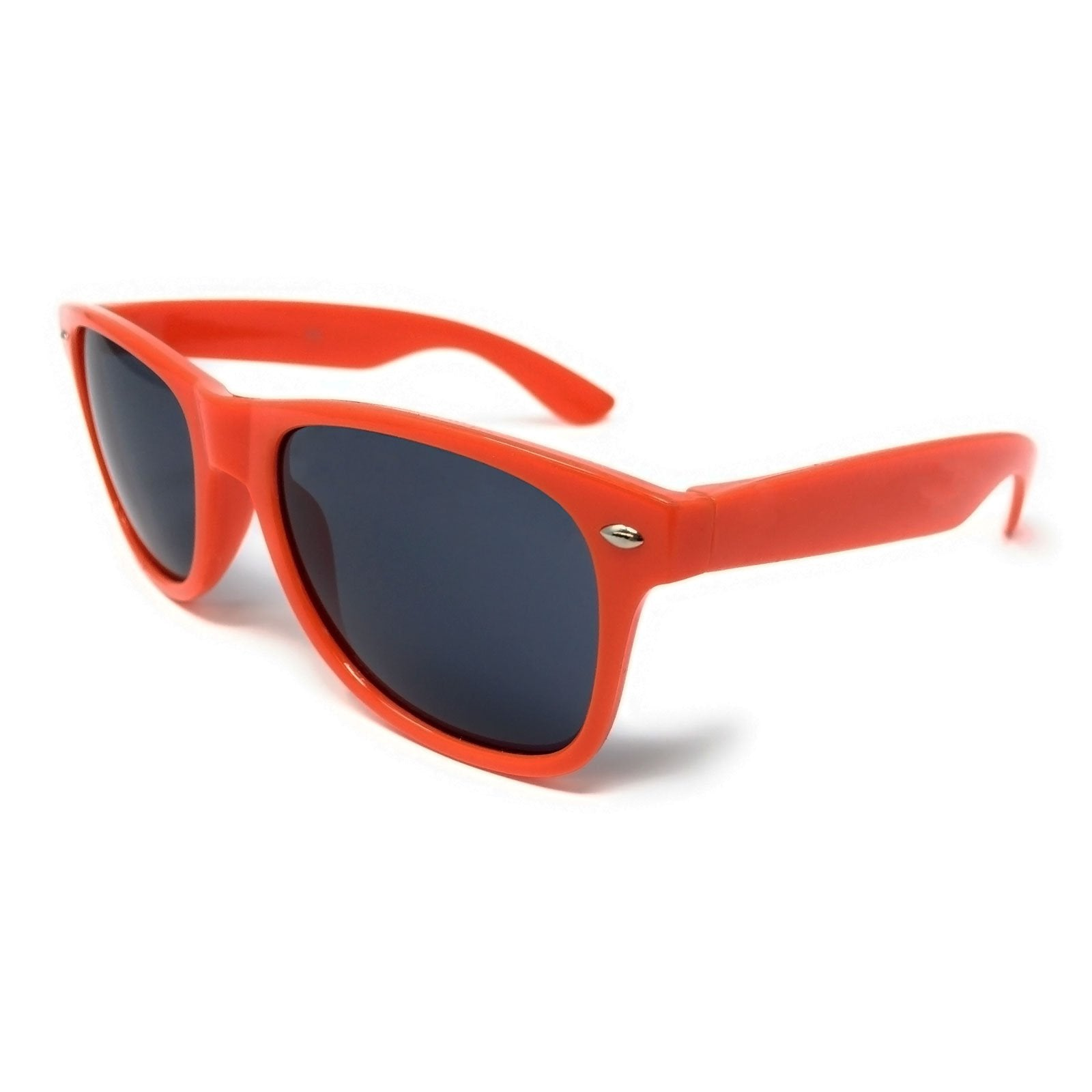 Wholesale Kids Classic Sunglasses - Orange Frame, Black Lens