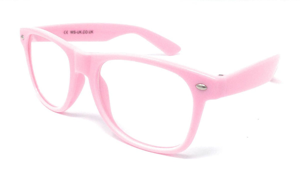 Wholesale Classic Clear Lens Glasses - Light Pink Frame
