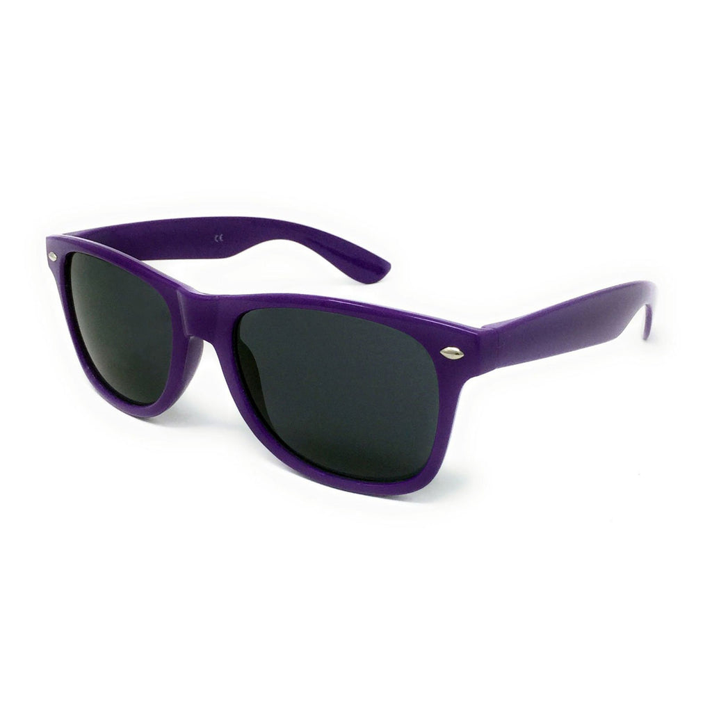 Wholesale Kids Classic Sunglasses - Purple Frame, Black Lens