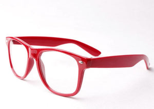 Wholesale Classic Clear Lens Glasses - Red Frame