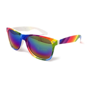 Wholesale Classic Sunglasses - Rainbow Frame, Rainbow Mirrored Lens
