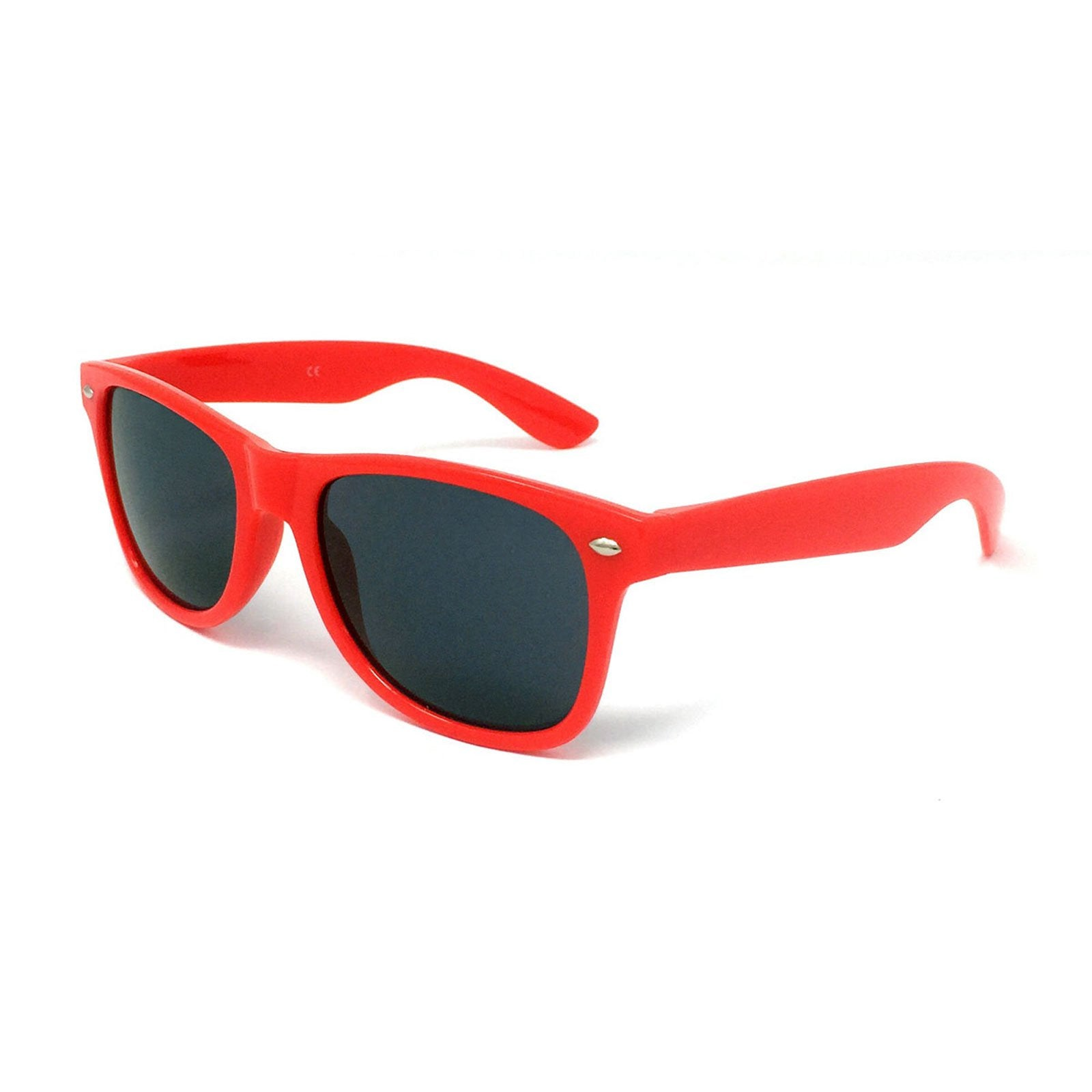 Wholesale Classic Sunglasses - Red Frame, Black Lens