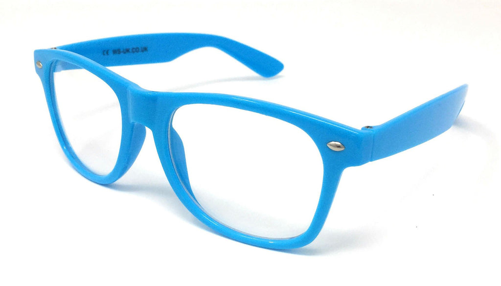 Wholesale Classic Clear Lens Glasses - Sky Blue Frame