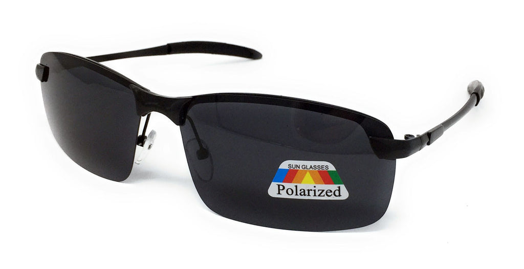 Polarised Sports Style Rectangular Sunglasses