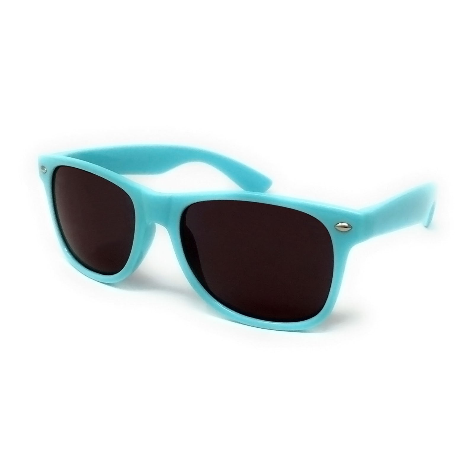 Wholesale Classic Sunglasses - Sky Blue Frame, Black Lens
