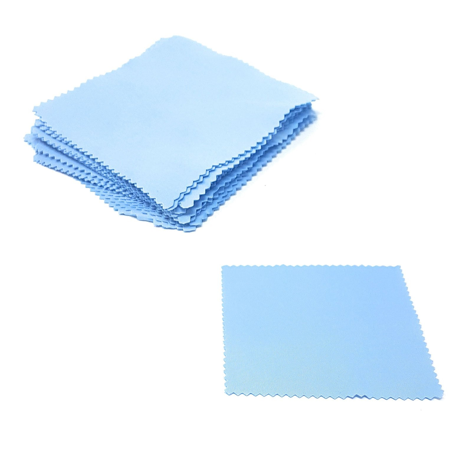 Wholesale Lens Cleaning Cloths - Sky Blue