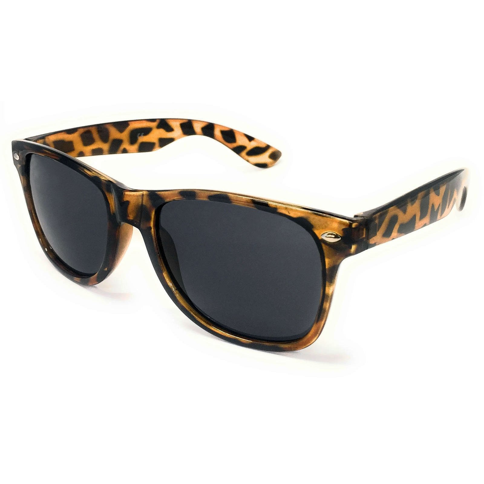 Wholesale Classic Sunglasses - Tortoise Shell Frame, Black Lens