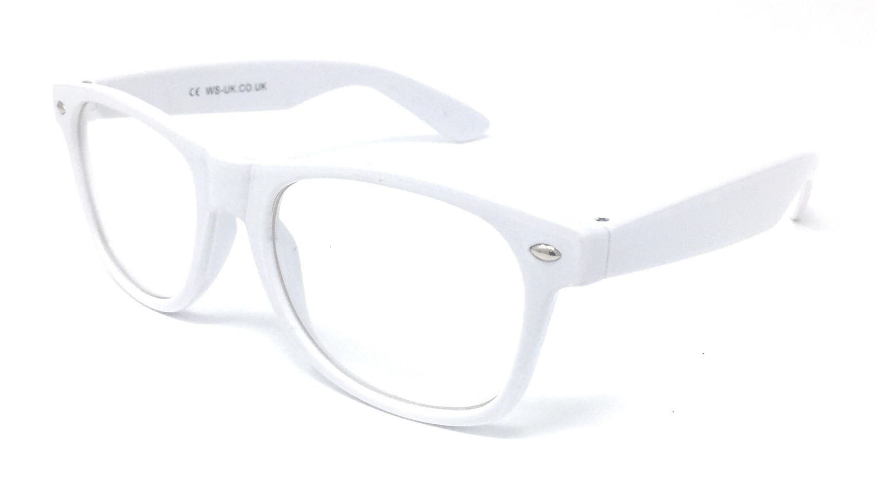 Wholesale Classic Clear Lens Glasses - White Frame