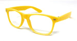 Wholesale Classic Clear Lens Glasses - Yellow Frame