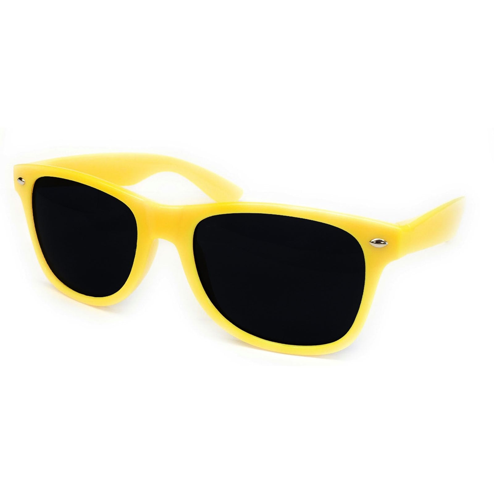 Wholesale Kids Classic Sunglasses - Yellow Frame, Black Lens