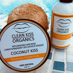 Clean kiss natural curly hair products oil for frizzy curls