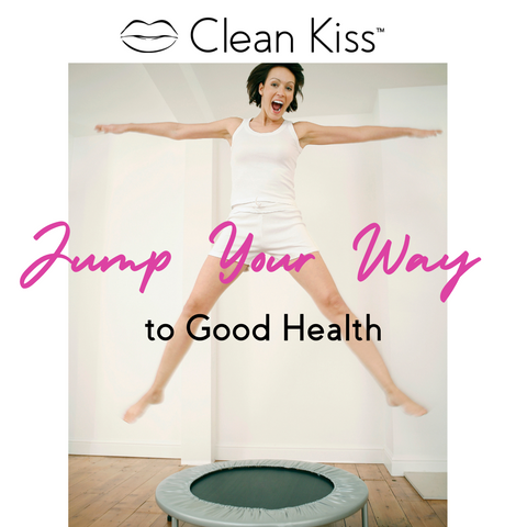 Jump on a trampoline for lymphatic drainage