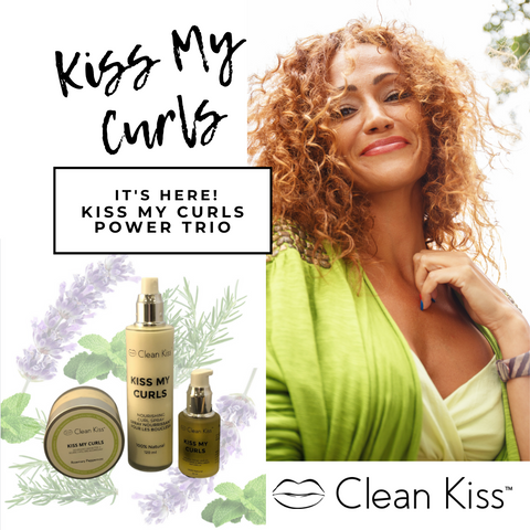 Kiss My Curls Power Trio for great natural curls with shine and frizz-free