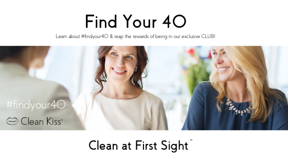 Find Your 40 Club Clean Kiss natural skincare