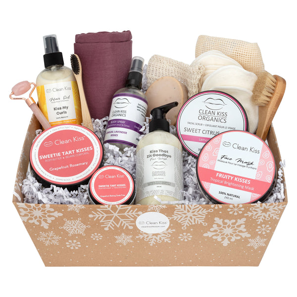 Custom Skincare Gift Basket - Clean Kiss