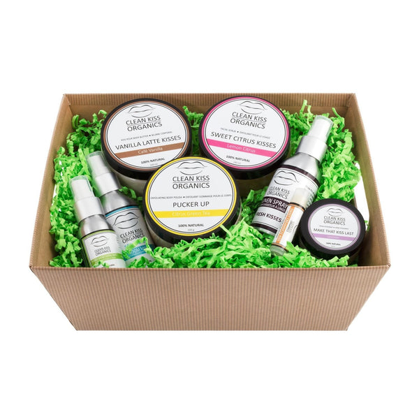 Our deluxe gift set is perfect for that special someone, and comes with various all-natural body and aromatherapy products