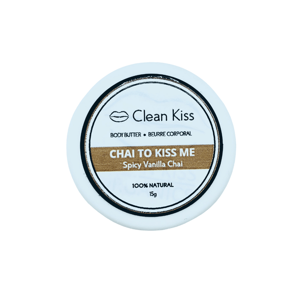 Travel size natural body butter with cinnamon and vanilla essential oils work with coconut oil, shea butter and sweet almond to moisturize your skin and keep it smooth and soft