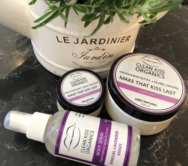 Lavender Body Collection Clean Kiss Natural skincare