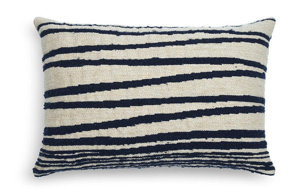 Stripes Lumbar White Cushion by Ethnicraft.