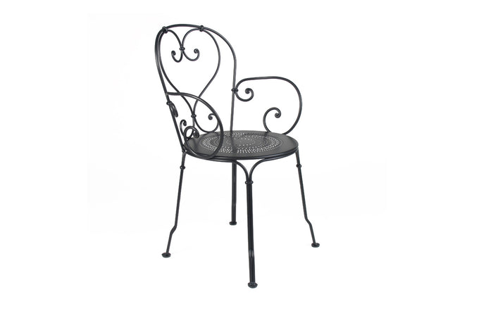 1900 Stacking Armchairby Fermob -  Liquorice (matte textured)