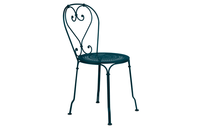 1900 Stacking Chairby Fermob - Acapulco Blue (matte textured)