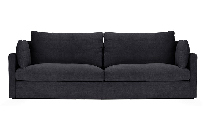 2026 2.5 Seat Lounge Sofa by Harbour - Black Linen Fabric.