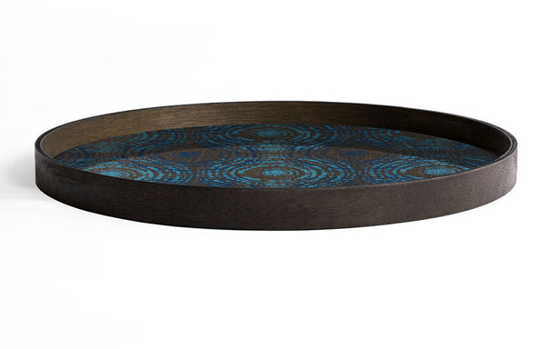 Seaside Beads Wooden Round Tray by Ethnicraft.