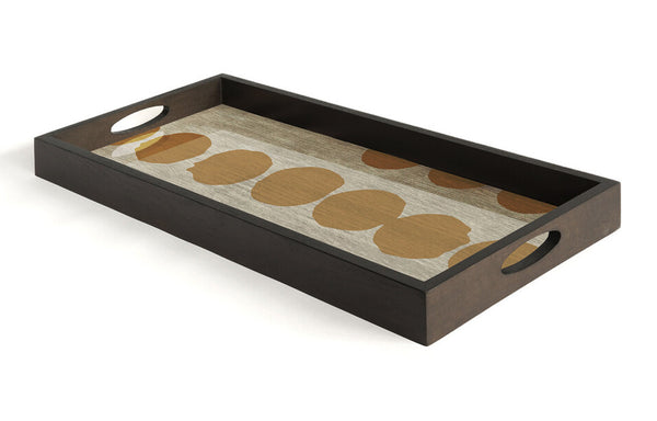 Sienna Dots Glass Tray by Ethnicraft.