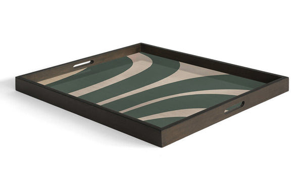 Slate Curves Wooden Tray by Ethnicraft.