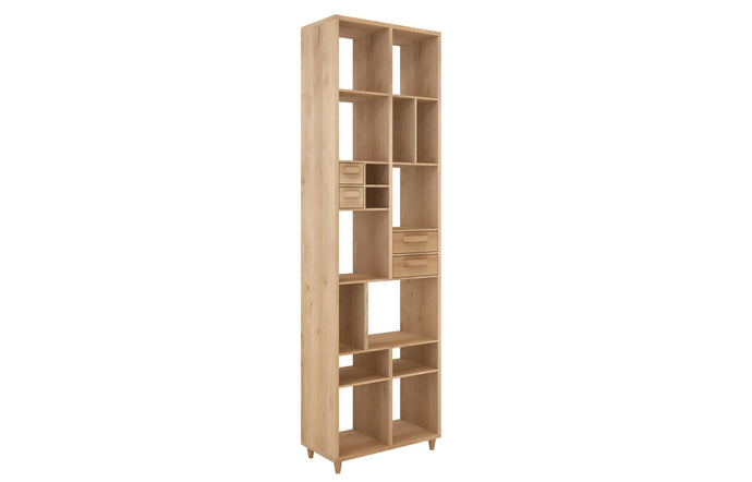 Marius Oak Pirouette Book Rack by Ethnicraft.