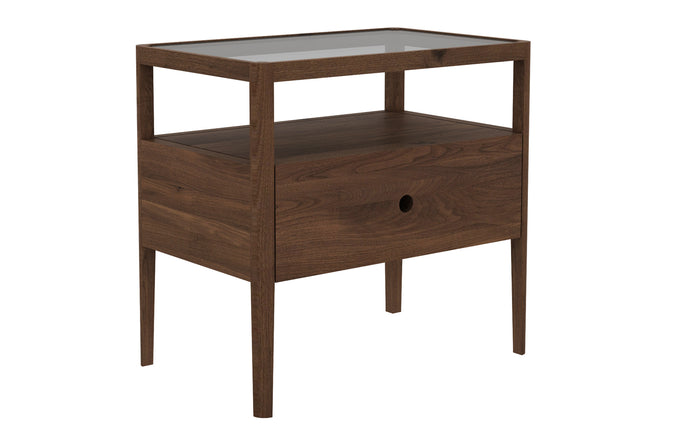 Spindle Walnut Nightstand by Ethnicraft.