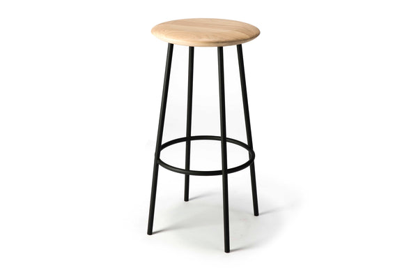 Baretto Oak Contract Grade Bar Stool by Ethnicraft.
