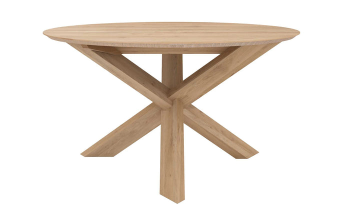 Circle Oak Dining Table by Ethnicraft.