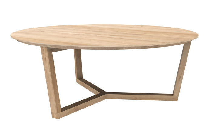 Tripod Oak Coffee Table by Ethnicraft.